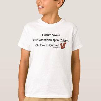 Short Attention Span Squirrel Tshirts