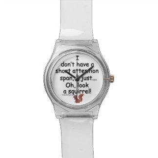 Short Attention Span Squirrel Wristwatch