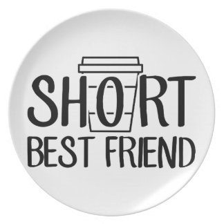 Short Best Friend Plate