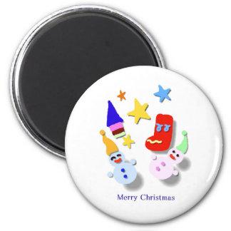 Short coat - Christmas 6 Cm Round Magnet