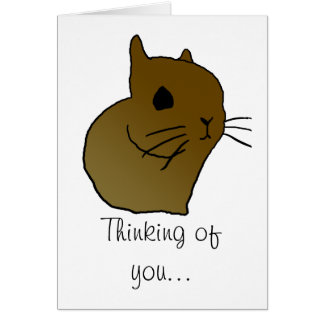 short eared bunny, Thinking of you... | greeting c Card