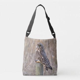 Short-Eared Owl with Vole Crossbody Bag