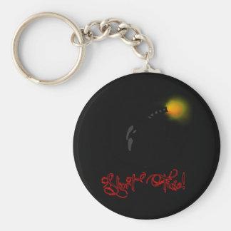 short fuse basic round button key ring