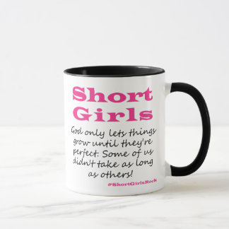 Short Girls Black 11oz Mug