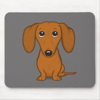 Short Haired Red Dachshund | Cute Wiener Dog Mouse Pad