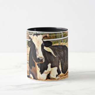 Short Horn Cow Two Tone Mug