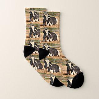 Short Horn Cow Unisex Socks 1