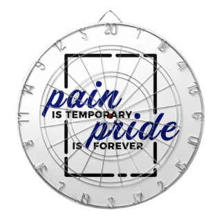 Short Pain Long Gain Pride Forever Winners Victory Dartboard