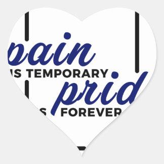 Short Pain Long Gain Pride Forever Winners Victory Heart Sticker