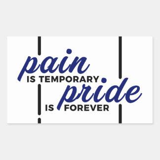 Short Pain Long Gain Pride Forever Winners Victory Rectangular Sticker