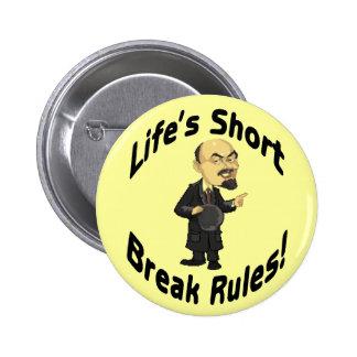 Short Rules 6 Cm Round Badge