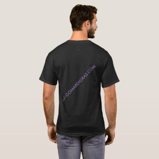 Short SleeveBLACK MARDI GRAS WEB T-shirt