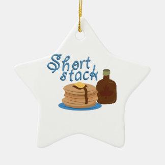Short Stack Ceramic Star Decoration