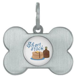 Short Stack Pet Tag