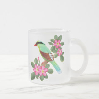 Short Tailed Green Magpie Frosted Mug