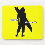 Shortboarder silhouette design mouse pad