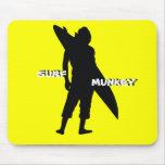 Shortboarder silhouette design mousepad
