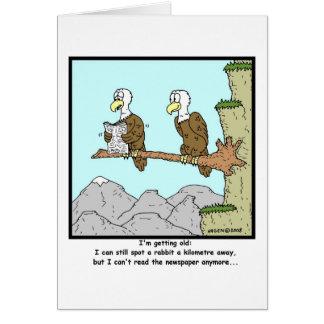 Shortsighted: Eagle Cartoon Card