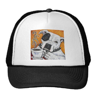 Shorty Rossi's pitbull MUSSOLINI drinking coffee Mesh Hats