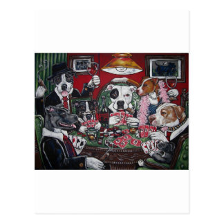 shorty's dogs playing poker post card