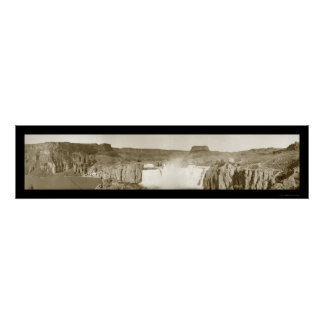 Shoshone Falls Idaho Photo 1909 Poster