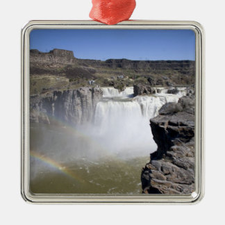 Shoshone Falls on the Snake River in Twin Falls, Silver-Colored Square Decoration