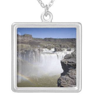 Shoshone Falls on the Snake River in Twin Falls, Square Pendant Necklace