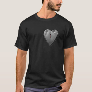 Shot and Bleeding Metal Heart, T-Shirt