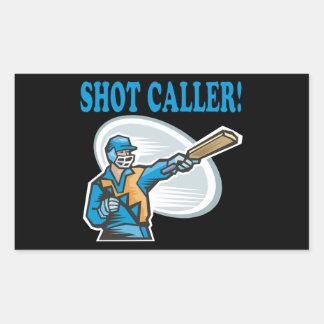 Shot Caller Rectangular Sticker