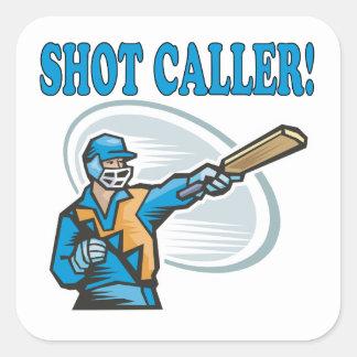 Shot Caller Square Sticker