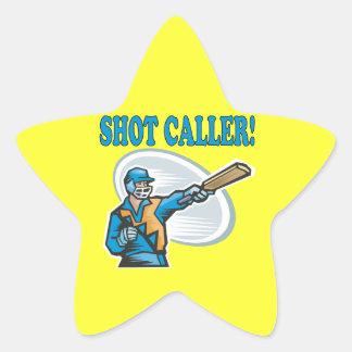 Shot Caller Star Sticker