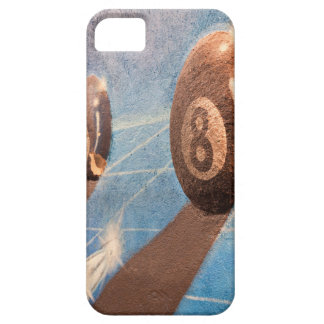 Shot of billiard balls illustration on the wall iPhone 5 cases