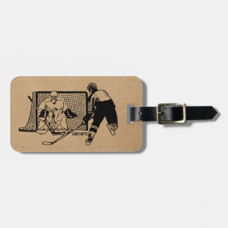 Shot on Net Hockey Luggage Tag