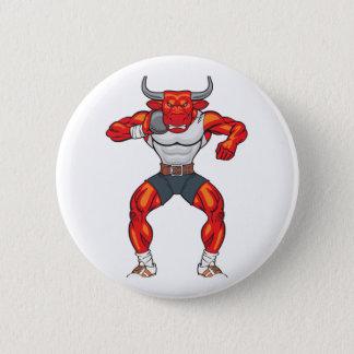 shot put bull 2 6 cm round badge