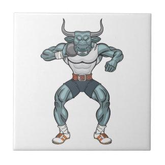 shot put bull ceramic tile