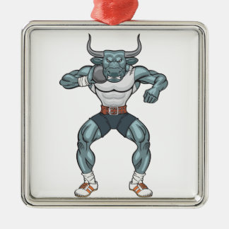 shot put bull metal ornament
