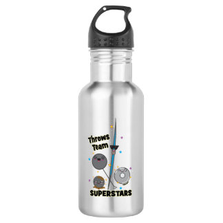 Shot Put Discus Hammer Javelin Throw Fun Gift 532 Ml Water Bottle