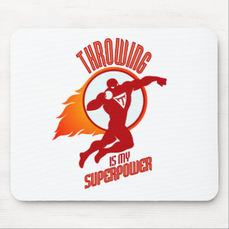 shot putting is my superpower mouse pad