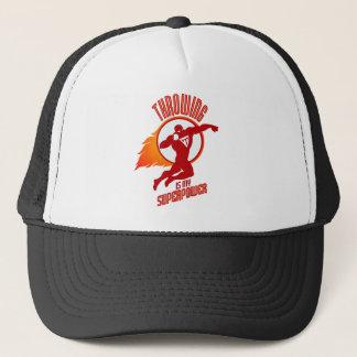 shot putting is my superpower trucker hat