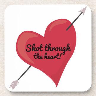 Shot Through The Heart! Drink Coaster