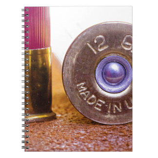 Shotgun Shell Spiral Notebook