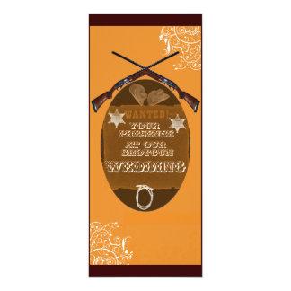 "ShotGun Wedding Invitation 4"" X 9.25"" Invitation Card"