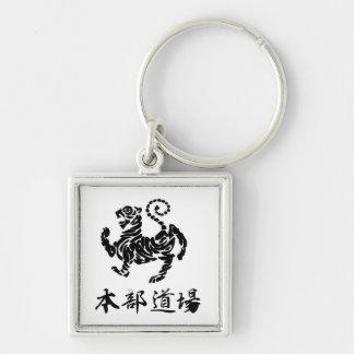 Shotokan tiger w/ Kanji Keychain