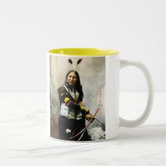 'Shout At' Indian Two-Tone Coffee Mug
