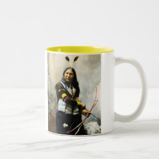 'Shout At' Indian Two-Tone Mug