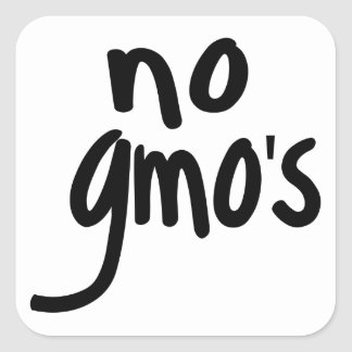 Shout No GMO's Protect our Food Square Sticker