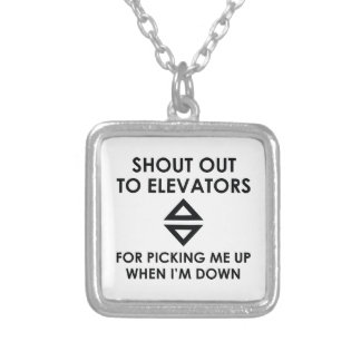 Shout Out To Elevators Silver Plated Necklace