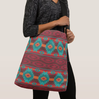 Shouthwestrn ethnic navajo tribal pattern crossbody bag