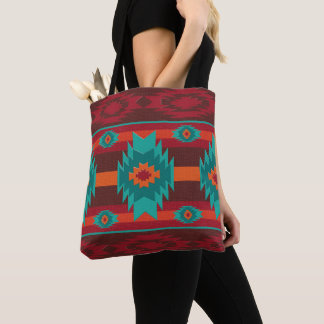 Shouthwestrn ethnic navajo tribal pattern tote bag
