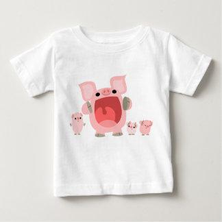 Shouting Cartoon Pigs Baby T-shirt